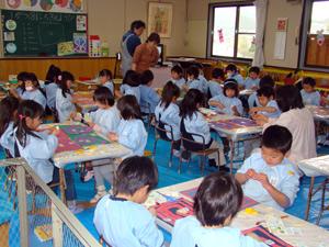 柳井幼稚園 子育て支援 造形教室